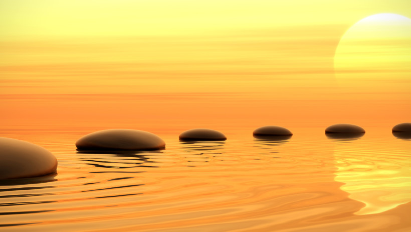 zen-path-of-stones-on-sunset-in-widescreen